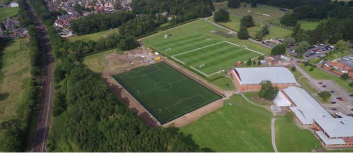 birds eye view of MFC training ground