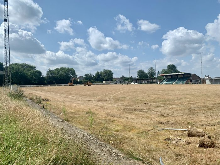 field being cleared for a pitch project