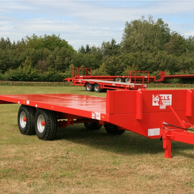 20ft Tandem Axle Flatbed Scaffold Trailer